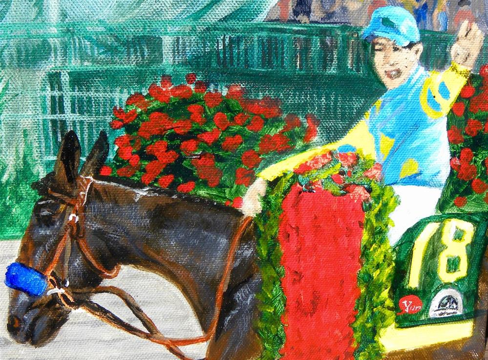 """THE WINNER"" original fine art by cheryl buhrman"