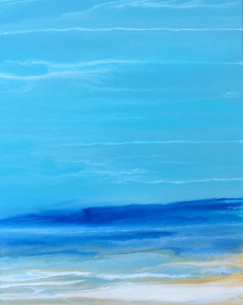 """Abstract Seascape Painting Gentle Flow by Colorado Contemporary Artist Kimberly Conrad"" original fine art by Kimberly Conrad"