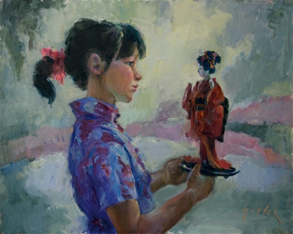 """Gift form the Orient"" original fine art by Julie Snyder"