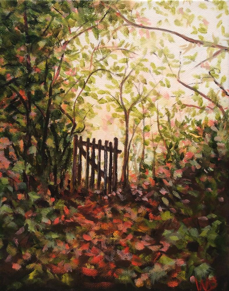 """Beyond the Gate"" original fine art by wendy black"