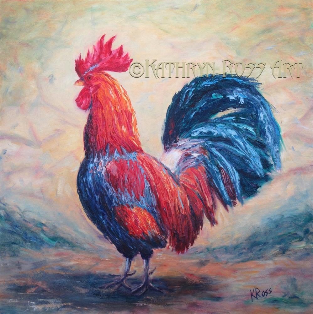 """Wild rooster"" original fine art by Kathryn Ross"