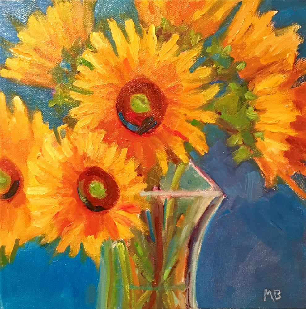 """Anniversary Sunflowers"" original fine art by Marcia Bergtholdt"