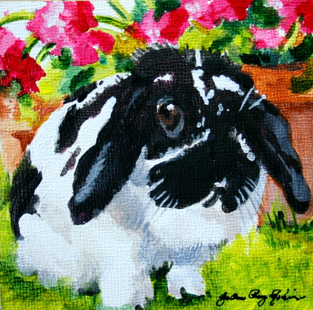 """Bunny Day ; D"" original fine art by JoAnne Perez Robinson"