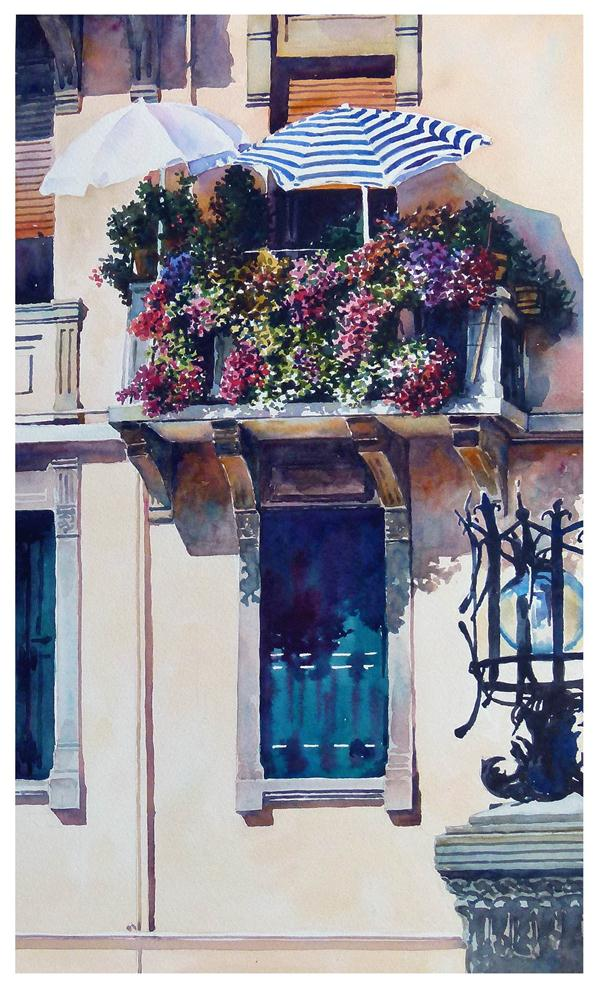 """Lido Balcony."" original fine art by Graham Berry"