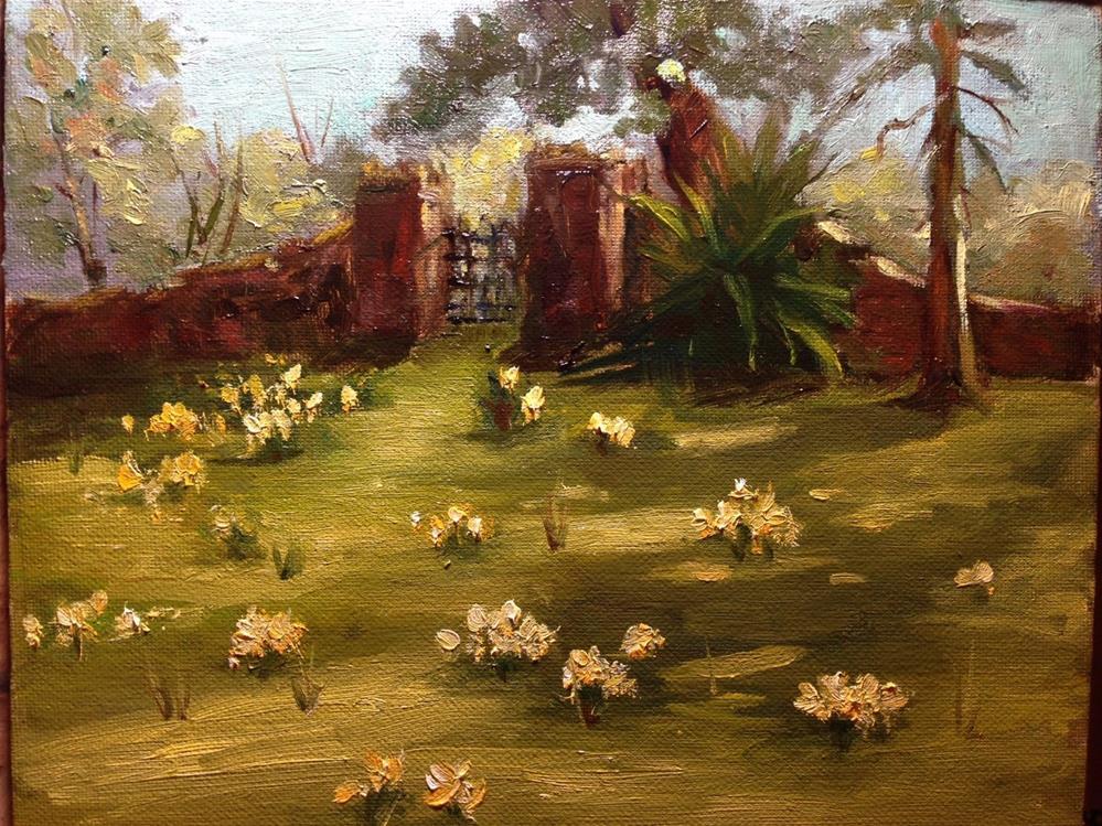 """""""Daffodils"""" original fine art by Dorothy Woolbright"""