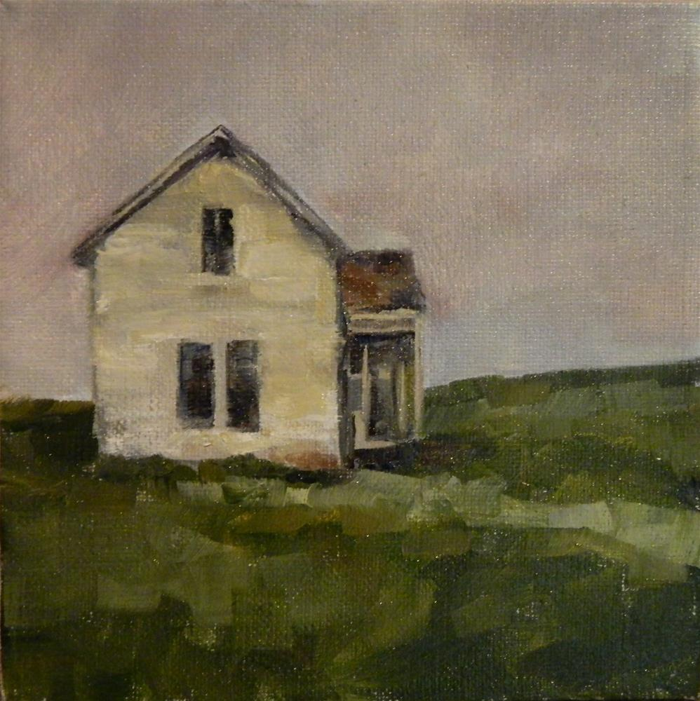 """White Farmhouse"" original fine art by Debra Shore"