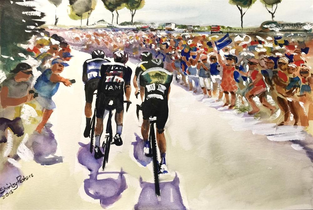 """Le Tour Near the Coast"" original fine art by Shirley Peters"