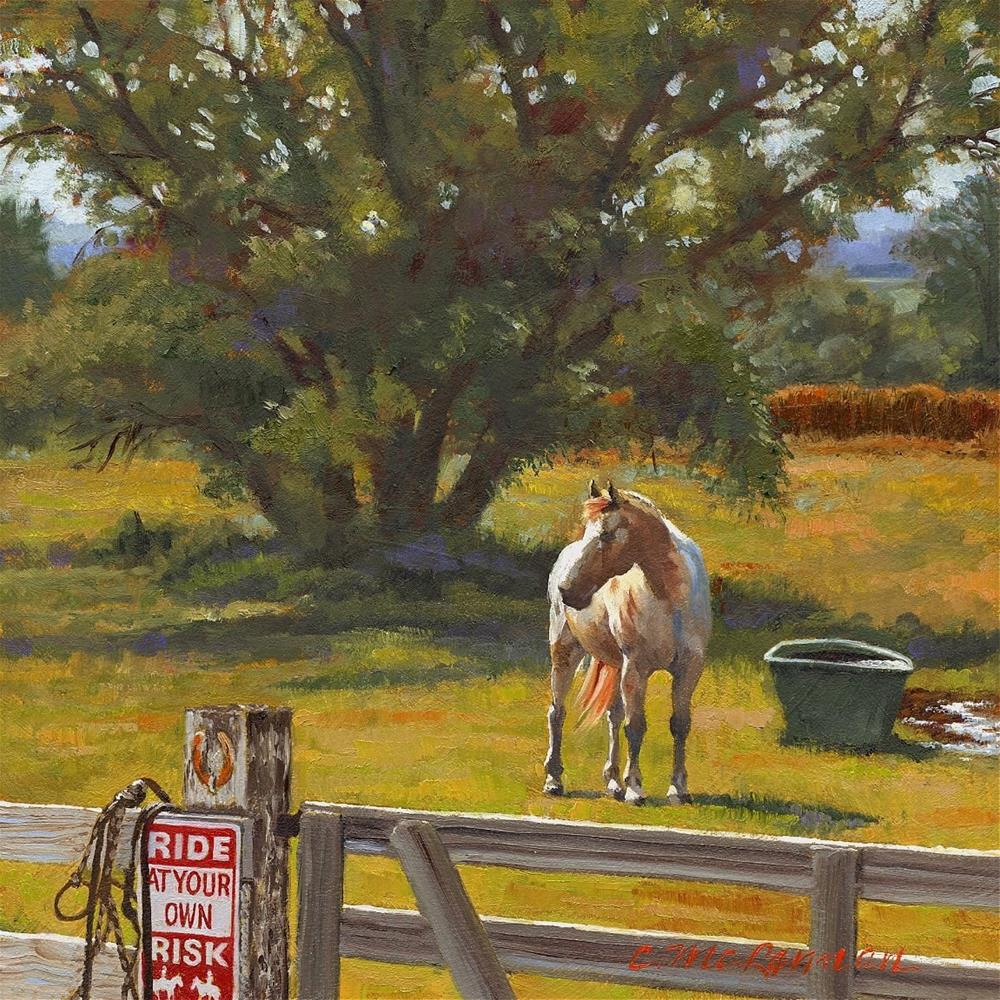 """Risky"" original fine art by Connie McLennan"