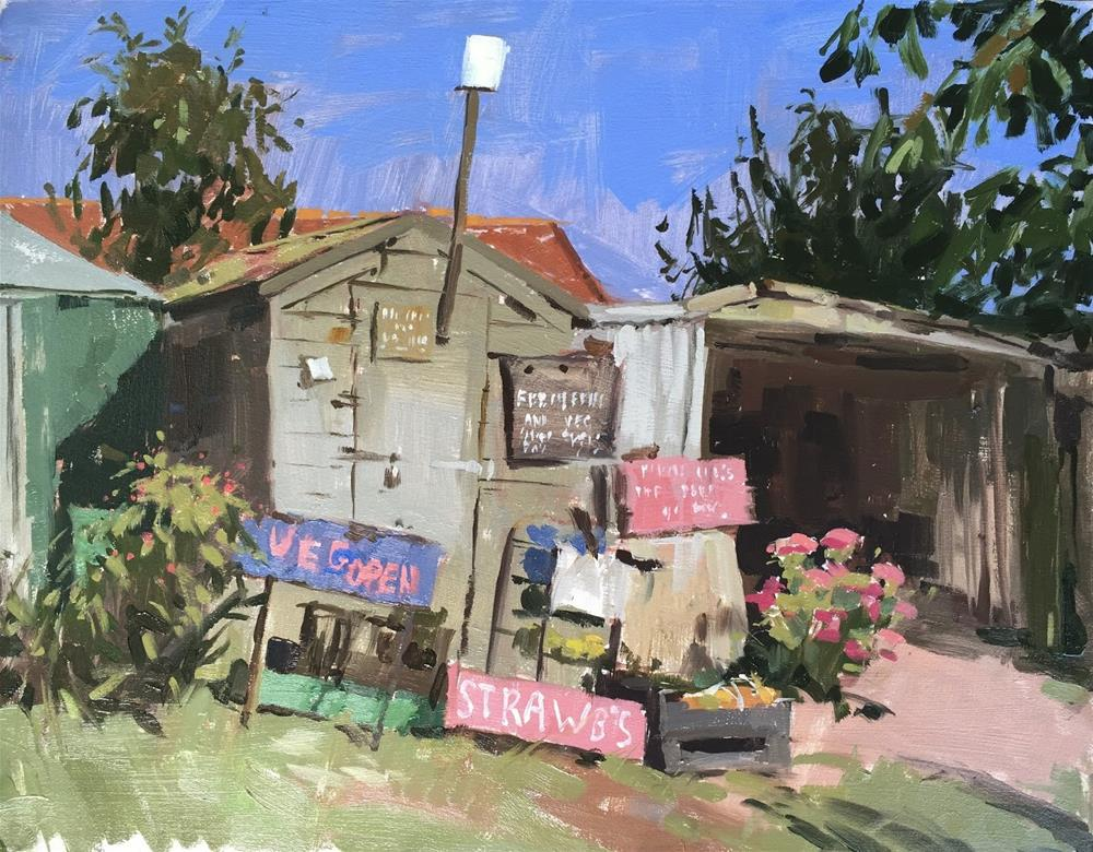 """Ken's fruit and veg"" original fine art by Haidee-Jo Summers"
