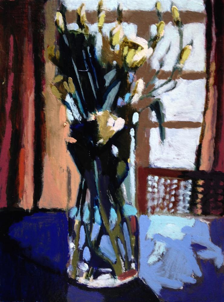 """""""Monochromatic Bouquet II"""" original fine art by Pamela Hoffmeister"""