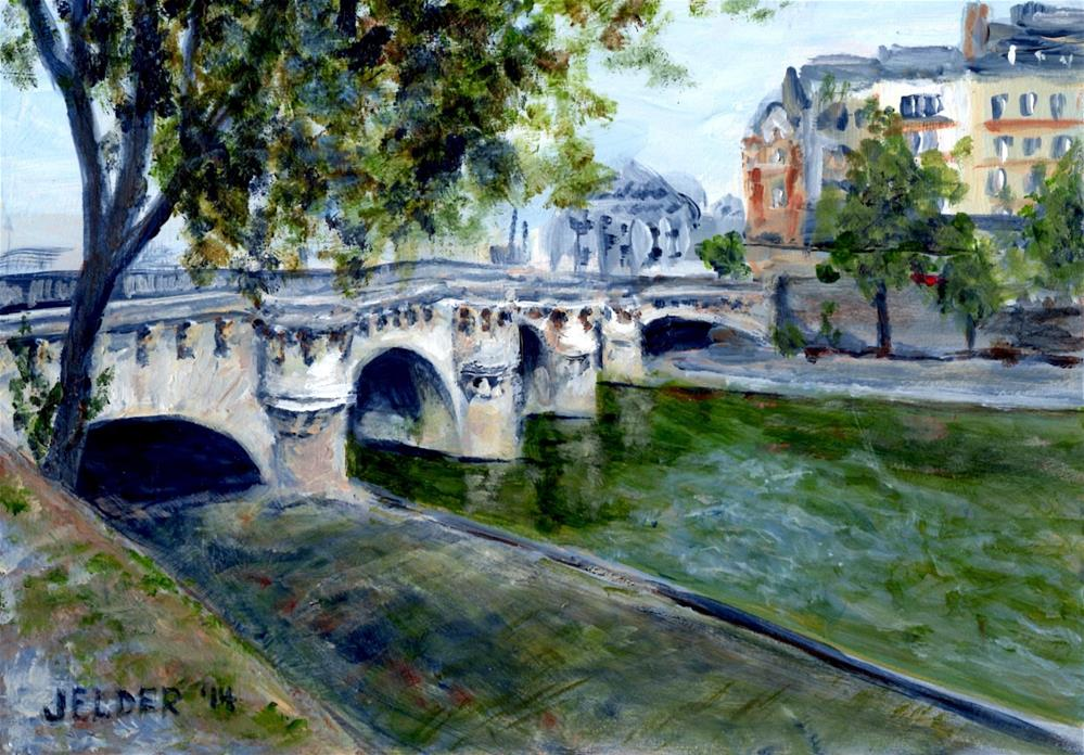 """Paris No. 38, Pont Neuf"" original fine art by Judith Elder"