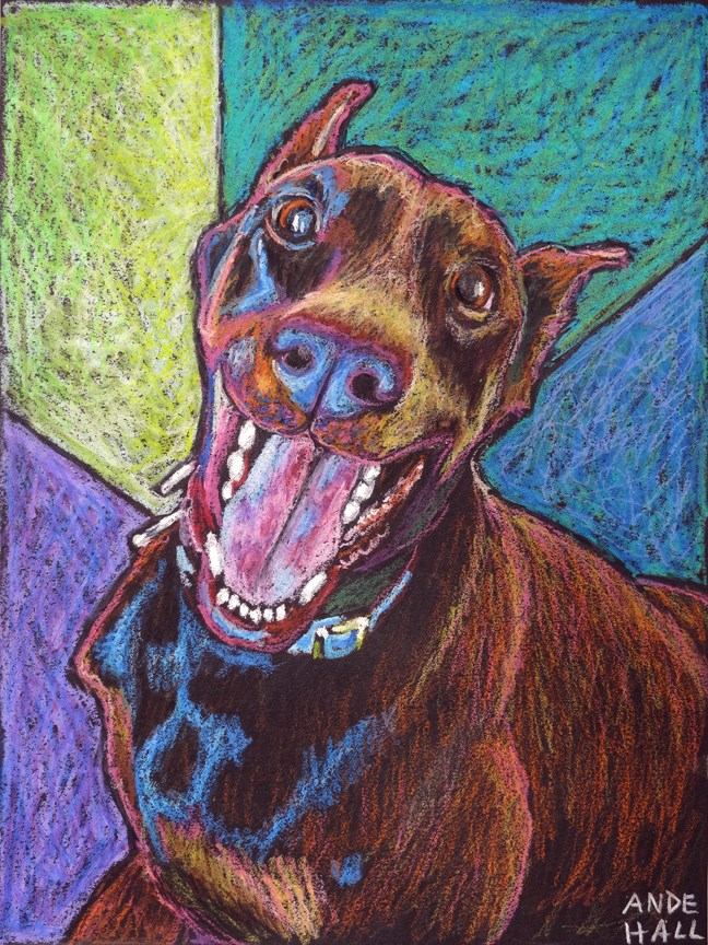"""Walk?"" original fine art by Ande Hall"