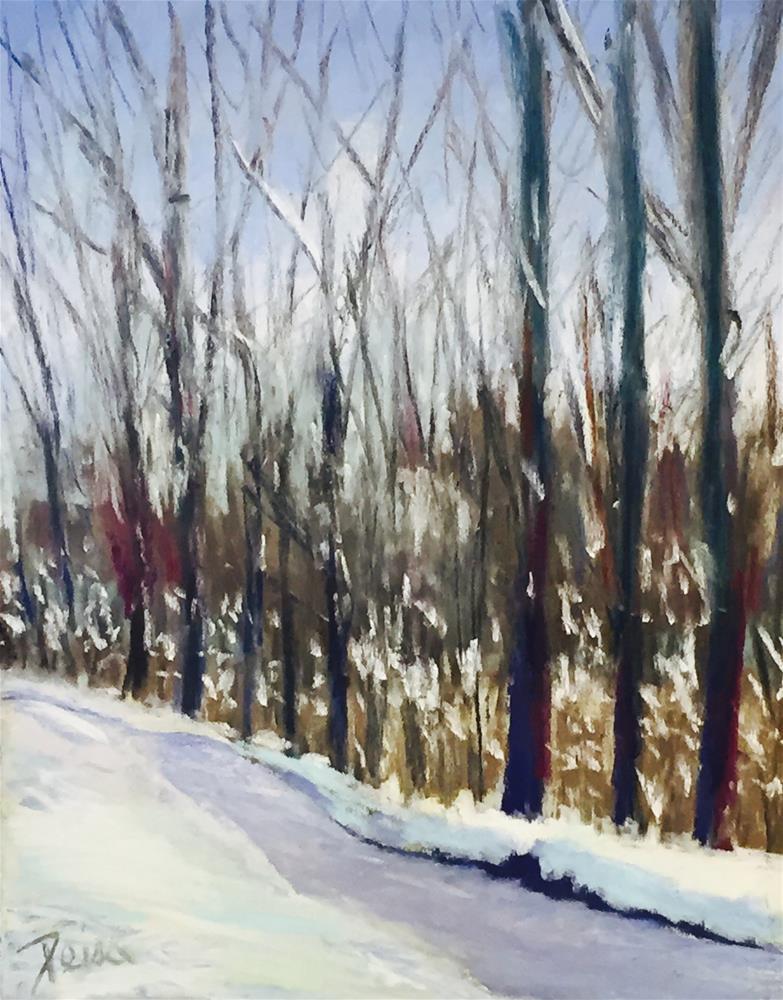 """Winter Walk"" original fine art by Reisa Peters"