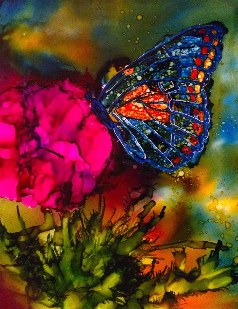 """Butterfly garden x"" original fine art by Korinne Carpino"