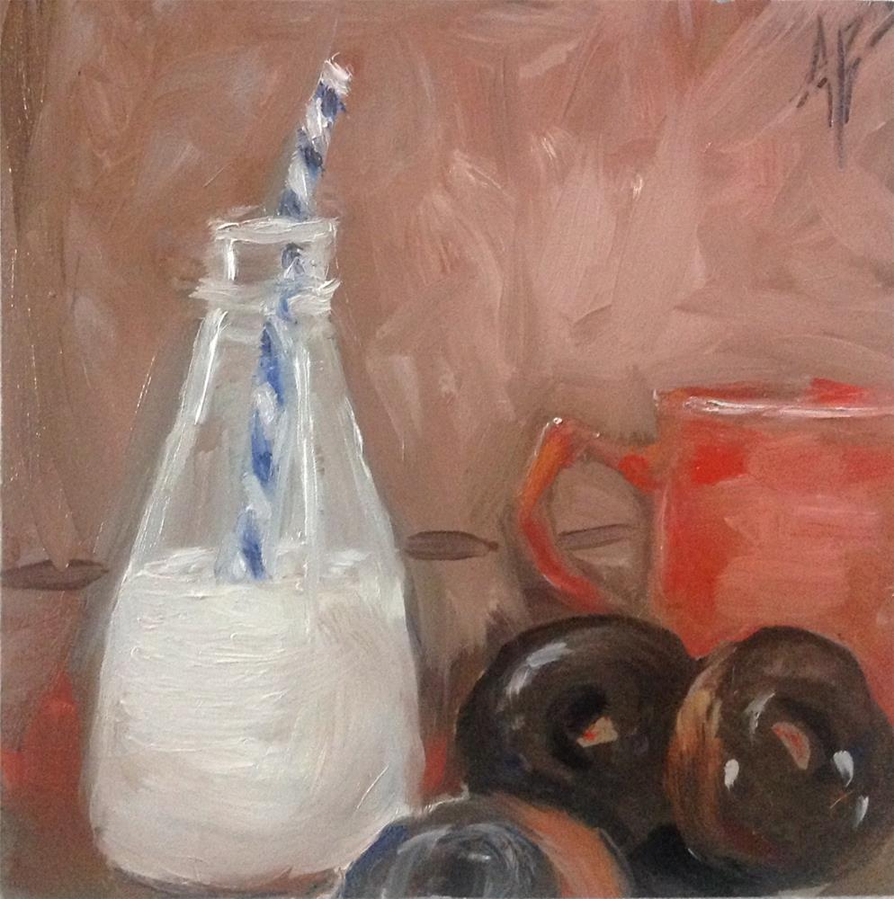 """The Break Room"" original fine art by Annette Balesteri"