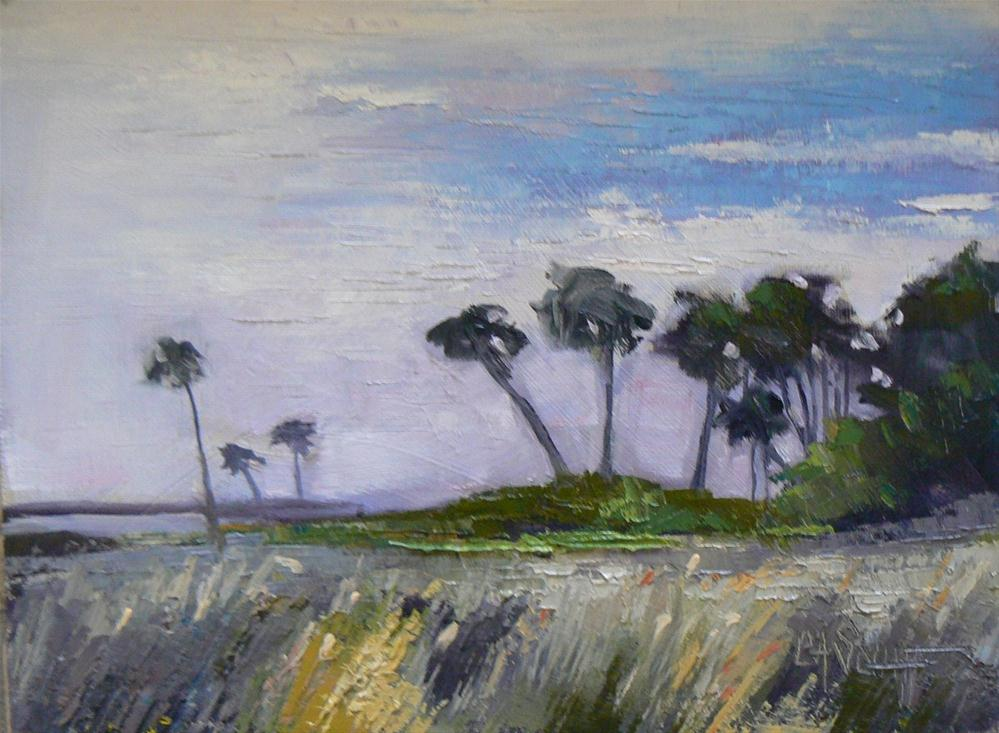 """Small Oil Landscape, Florida Wetlands I 6x8"" original fine art by Carol Schiff"