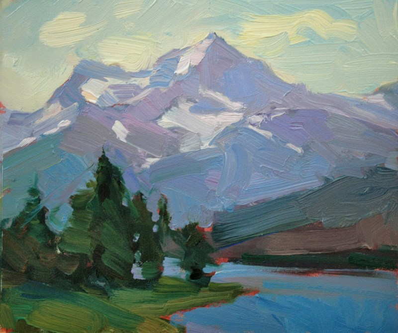 """Malign Lake"" original fine art by Kathryn Townsend"