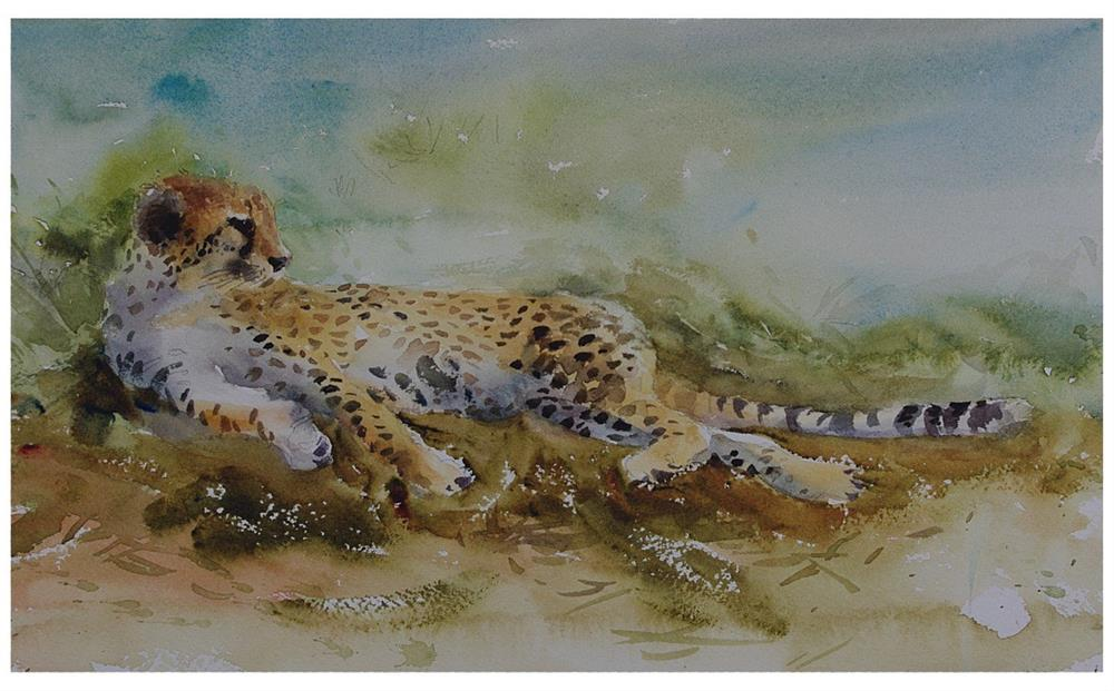 """Cheetah"" original fine art by Tan Gillespie"
