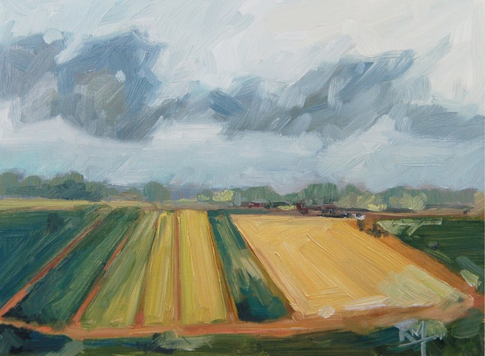 """No 475 Spring Fields"" original fine art by Robin J Mitchell"