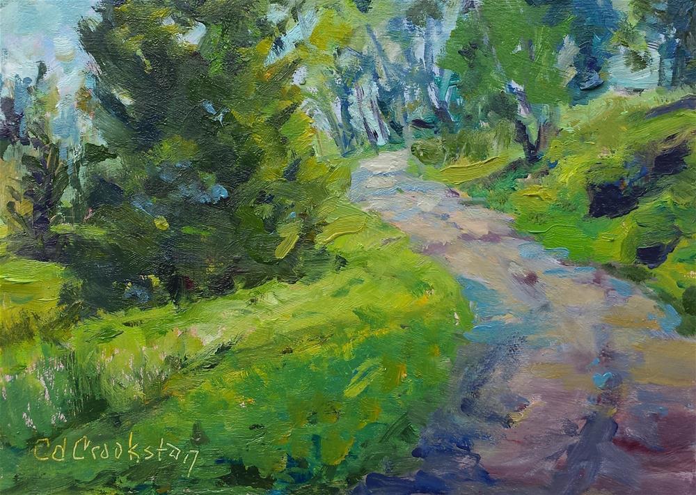 """Path Challenge"" original fine art by Catherine Crookston"