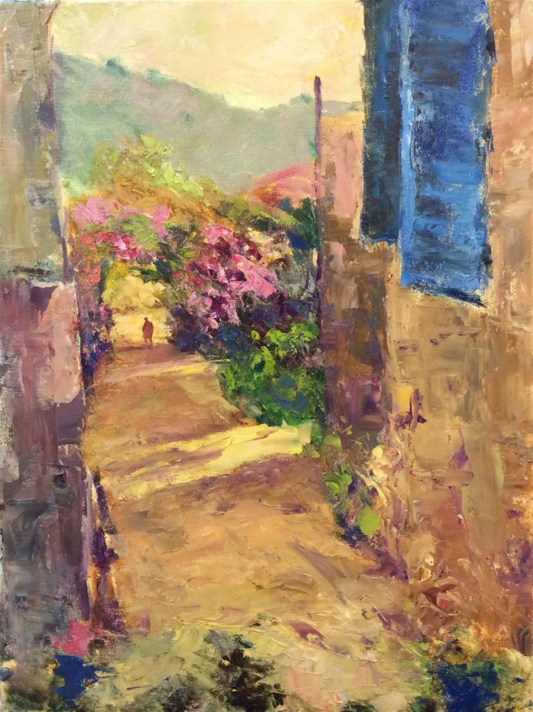 """Sunshine with a Palette Knife"" original fine art by John Shave"