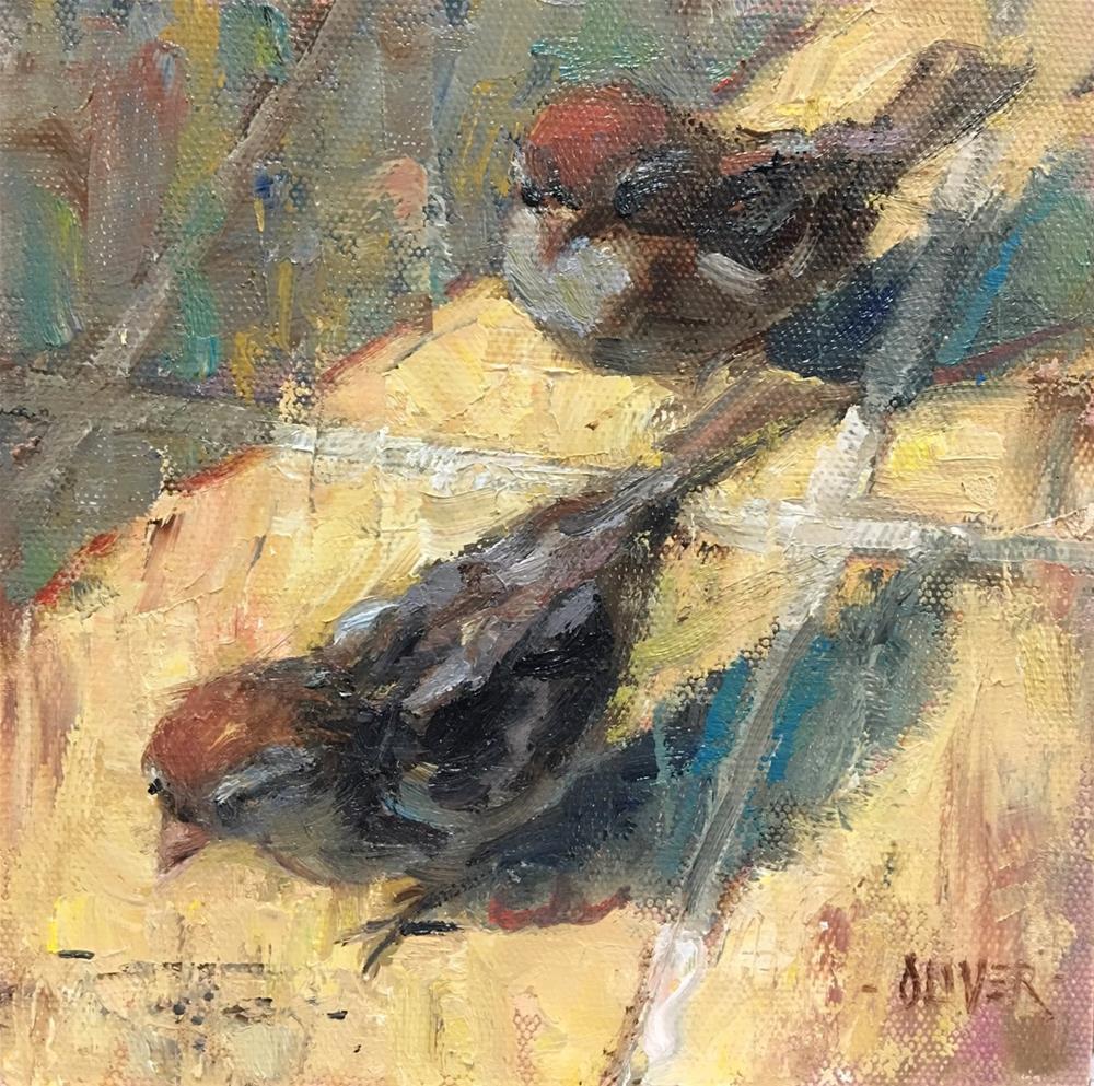 """""""For The birds!"""" original fine art by Julie Ford Oliver"""