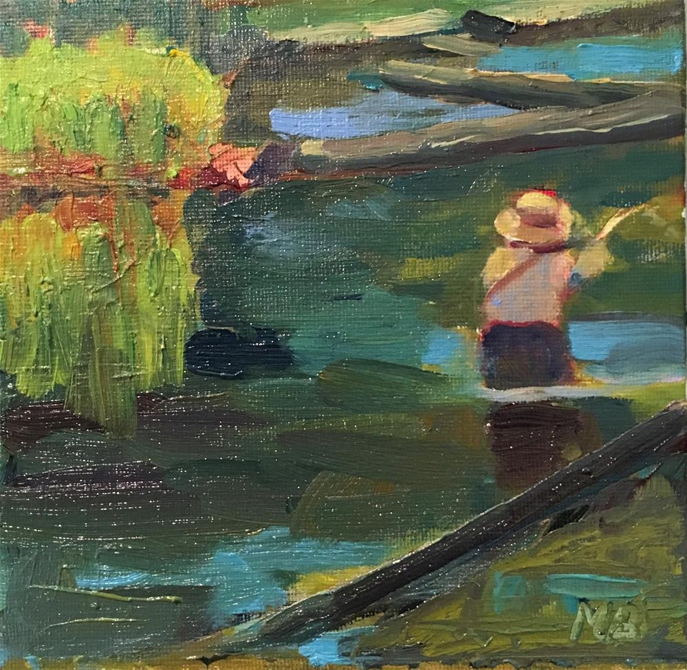 """Fish On!"" original fine art by Marcia Bergtholdt"