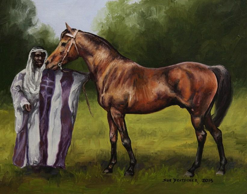"""""""Haleb"""" original fine art by Sue Deutscher"""