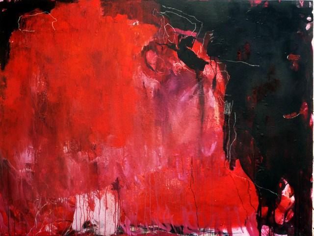"""Rosenbühne / rose stage"" original fine art by Mila Plaickner"