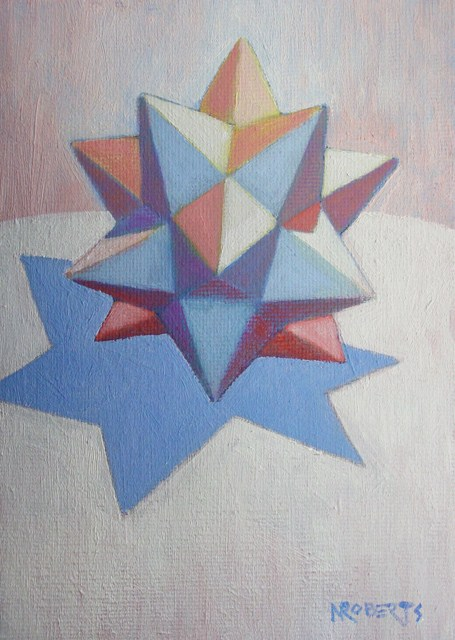 """White Star on White"" original fine art by Nancy Roberts"