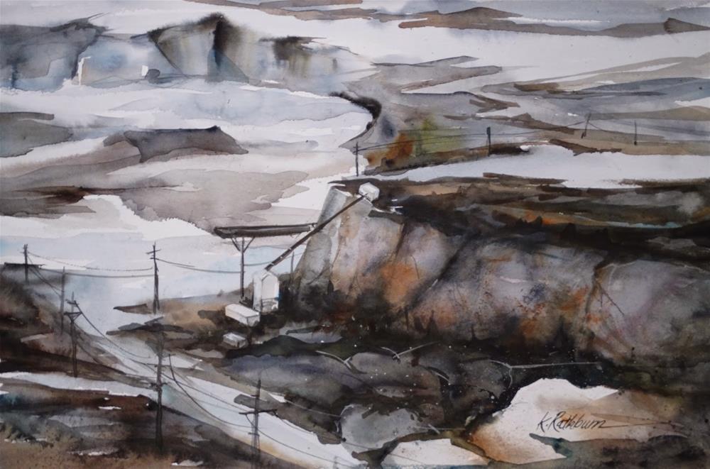 """Thornton Quarries"" original fine art by Kathy Los-Rathburn"