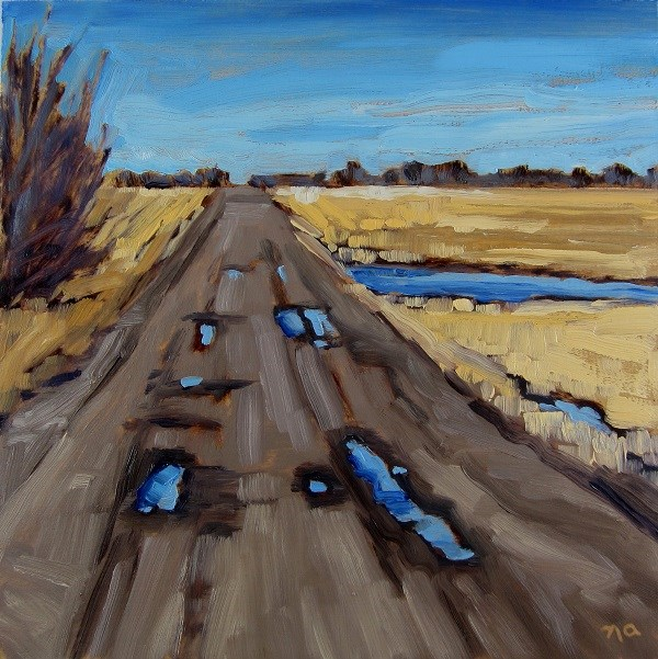 """Country Road"" original fine art by Nicki Ault"