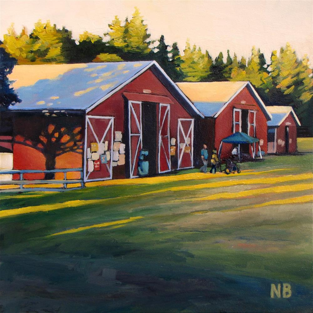 """Fair Barns"" original fine art by Nora Bergman"