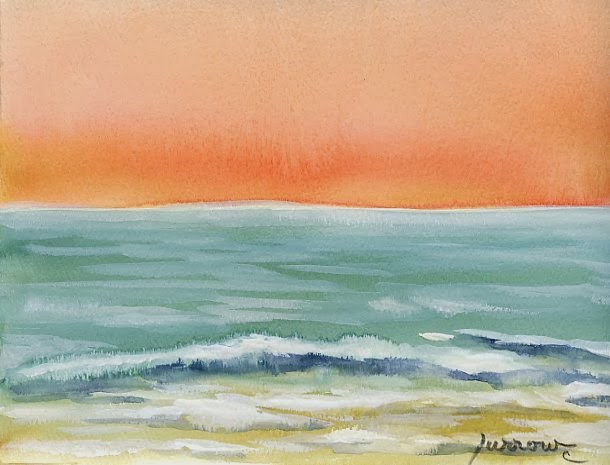 """New Year New Challenge !"" original fine art by Sue Furrow"