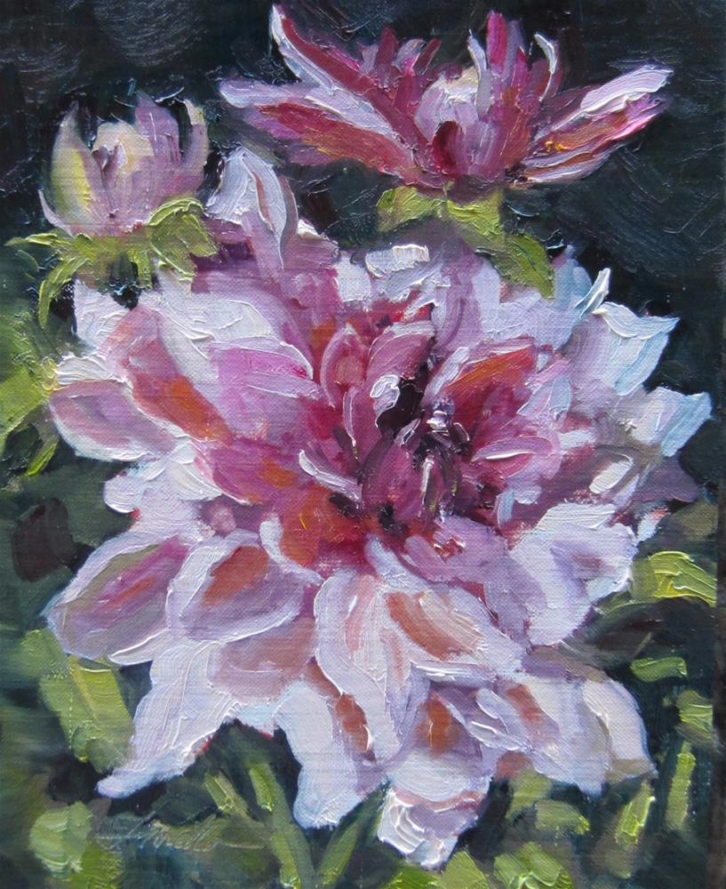 """Dahlia Daze"" original fine art by Pat Fiorello"
