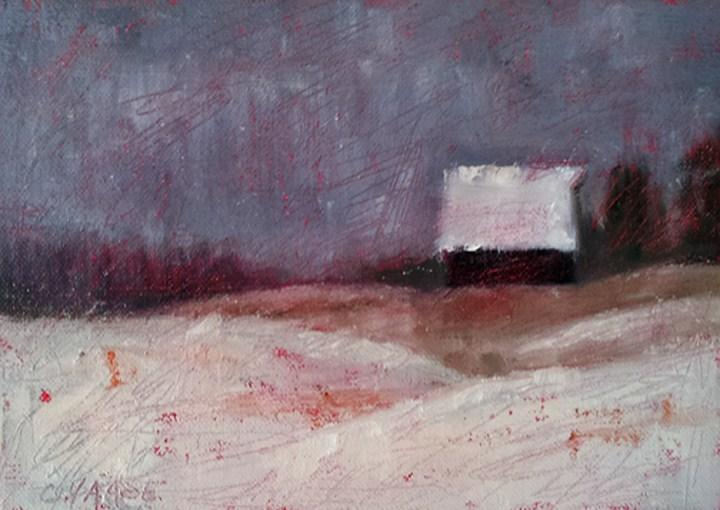 """Casey's Barn"" original fine art by Cindy Haase"
