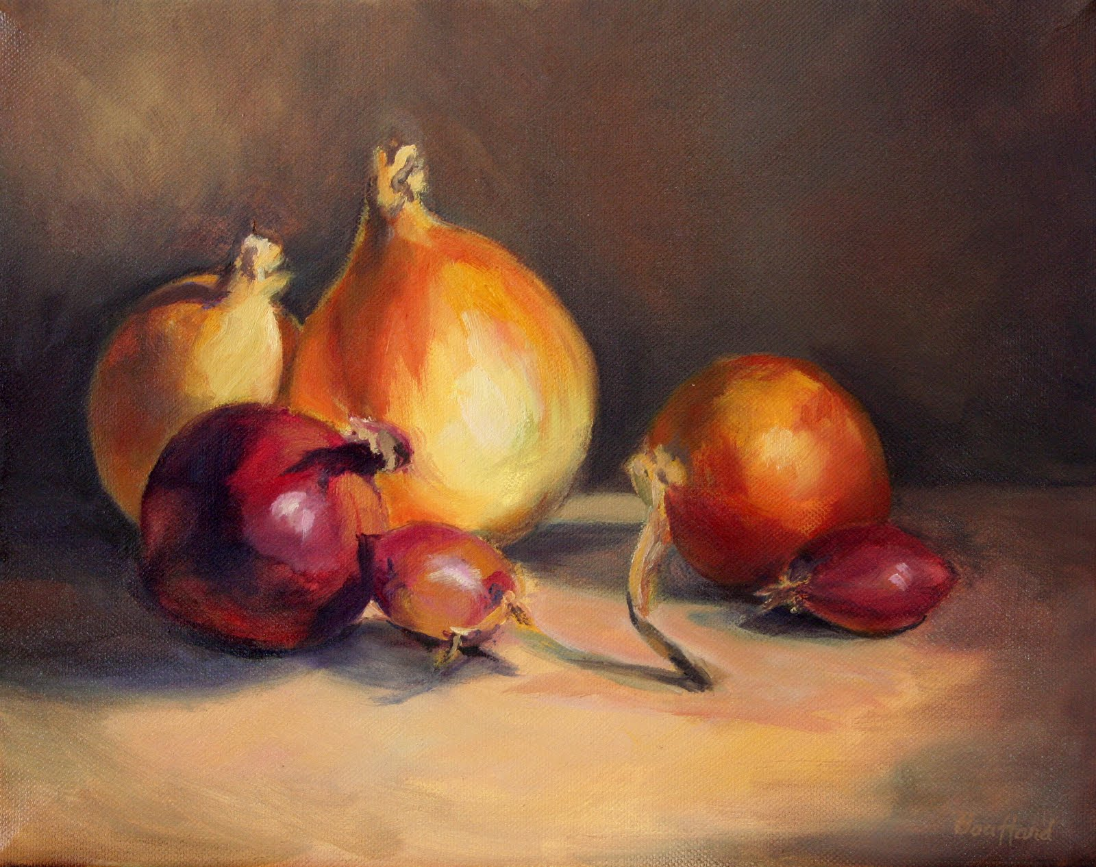 """Onions, etc."" original fine art by Vikki Bouffard"