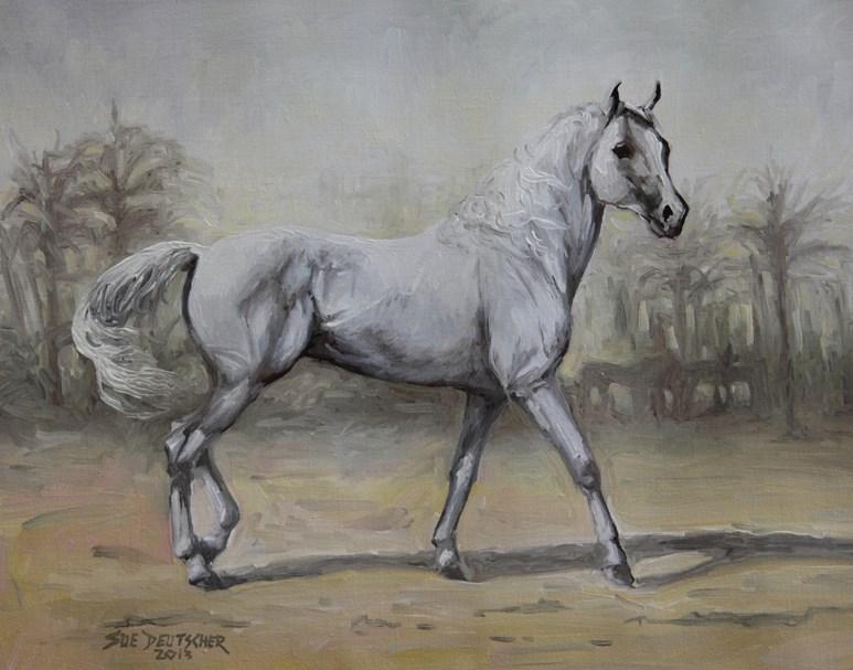 """""""Desert Prince"""" original fine art by Sue Deutscher"""