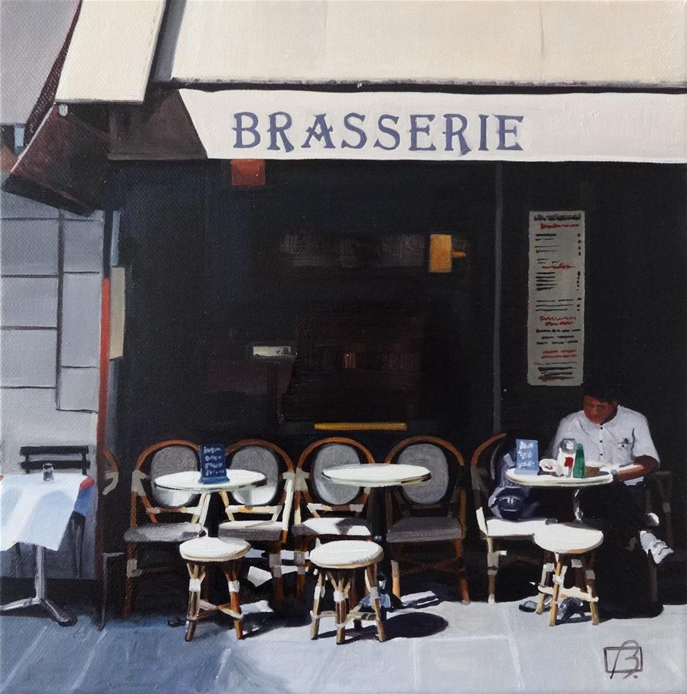 """Brasserie Le Relais Madeleine"" original fine art by Andre Beaulieu"