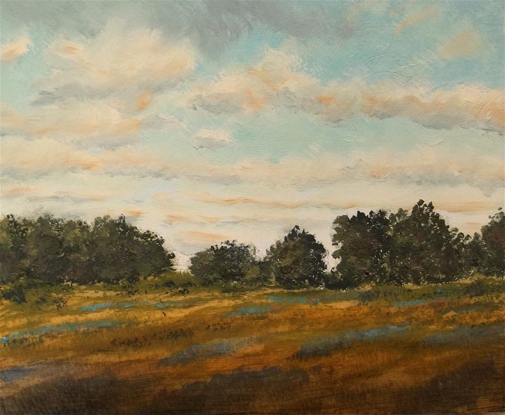 """North Texas Bluebonnets"" original fine art by William W. Hoyt"