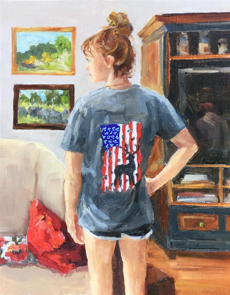 """Daddy's Daughter"" original fine art by Alice O'Leary"