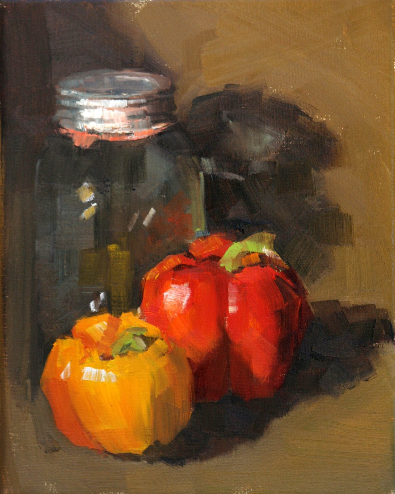 """PEPPER DUO"" original fine art by Carol Carmichael"