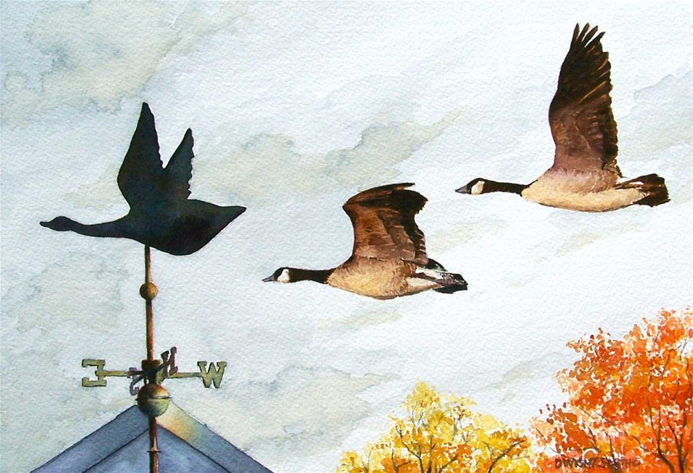 """ FOLLOWING IN VANE "" original fine art by Dwight Smith"