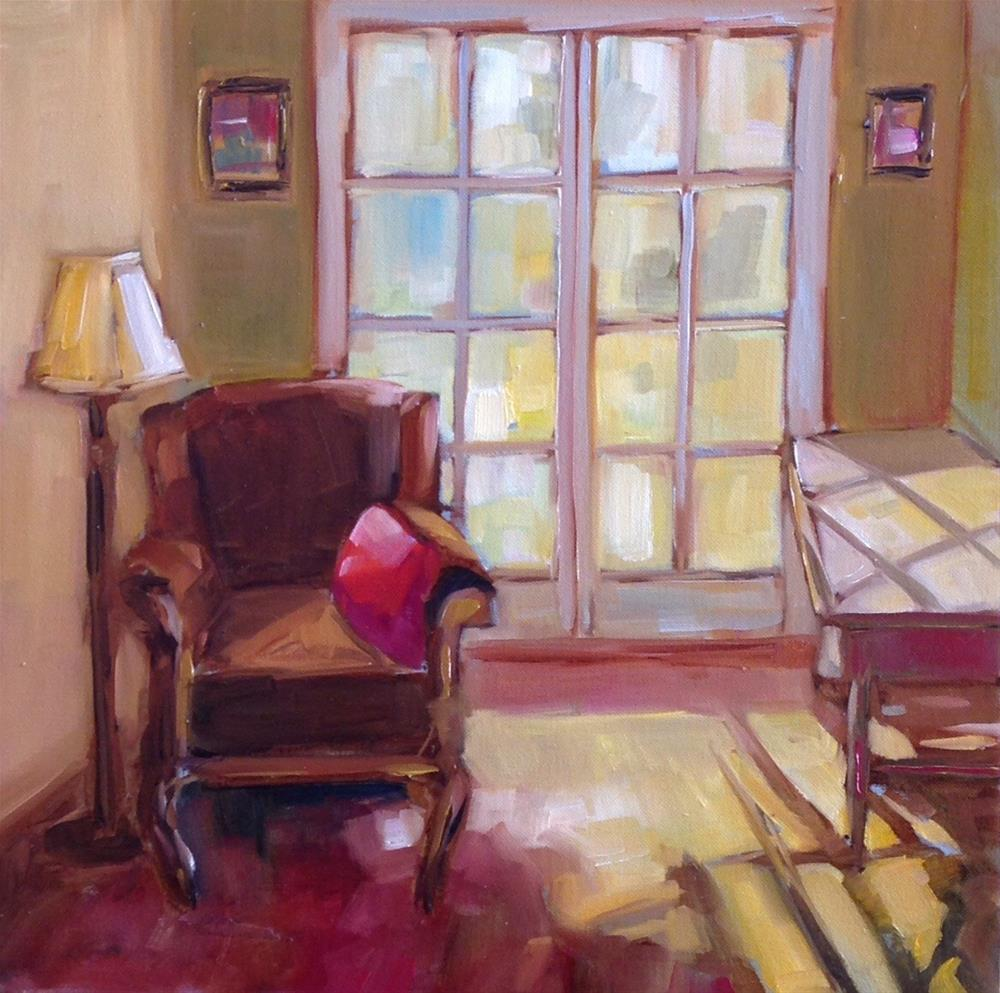 """Red Pillow"" original fine art by Libby Anderson"