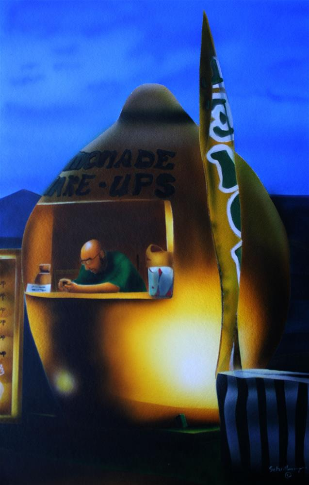 """Lemonade Shake Up"" original fine art by Fred Schollmeyer"