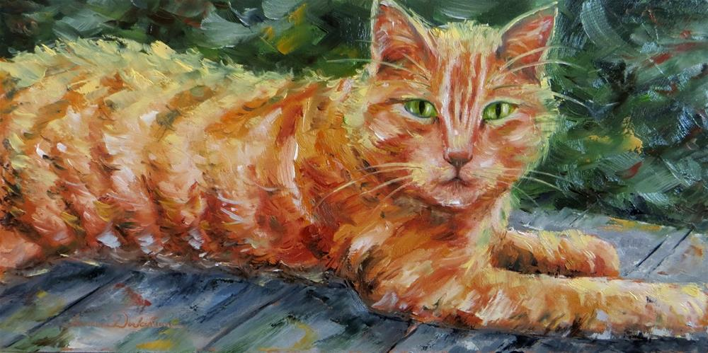 """Orange Cat"" original fine art by Tammie Dickerson"