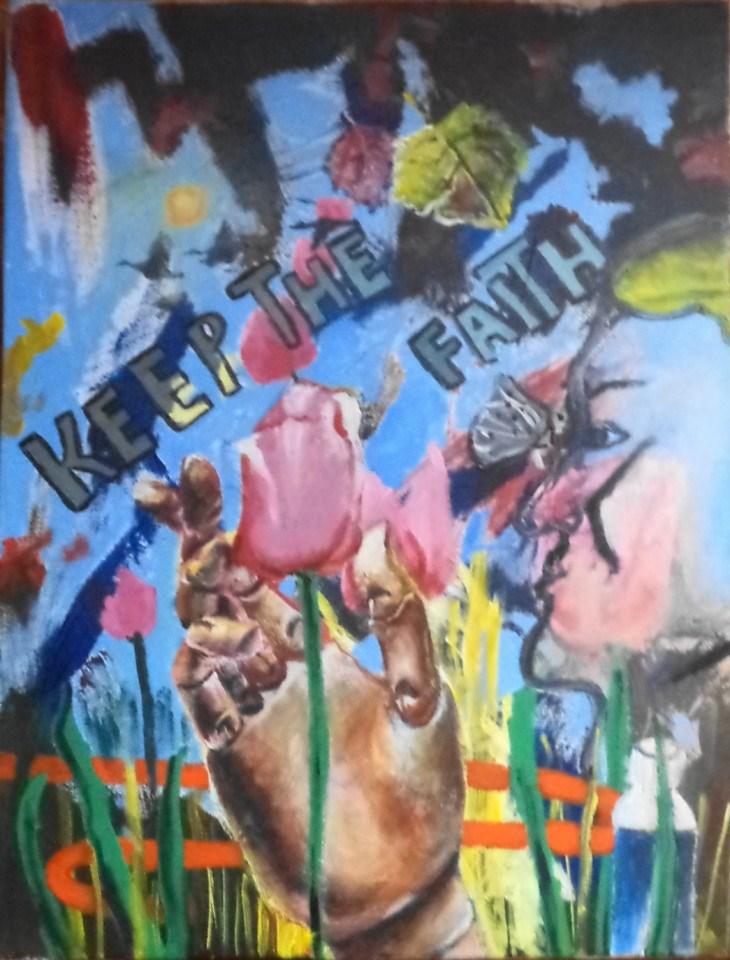 """""""Keep the Faith"""" original fine art by tara stephanos"""