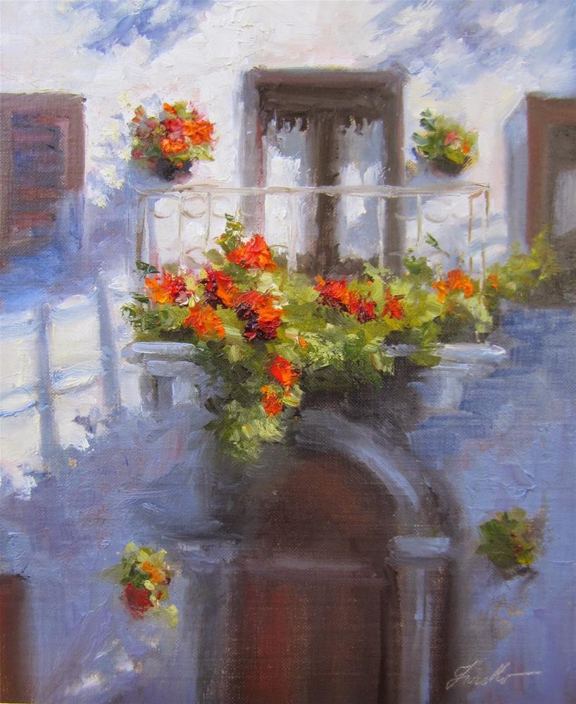 """Pienza Balcony II"" original fine art by Pat Fiorello"
