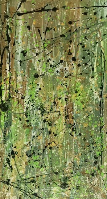 """Contemporary Abstract Expressionism Painting Organic Abstracts-Green #3 by Colorado Contemporary A"" original fine art by Kimberly Conrad"
