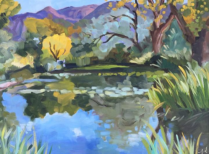 """""""Shady Lakes"""" original fine art by Jessie Dodington"""